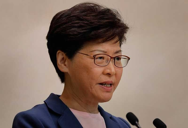 HONG KONG. Hong Kong Chief Executive Carrie Lam speaks during a press conference in Hong Kong, Tuesday, July 9, 2019. Lam said Tuesday the effort to amend an extradition bill was dead, but it wasn't clear if the legislation was being withdrawn as protesters have demanded. (AP)