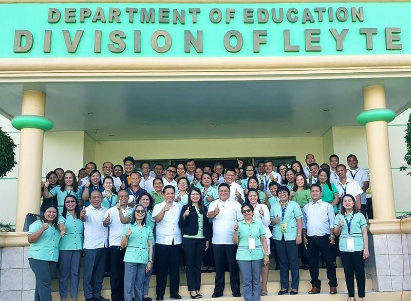 LEYTE. The Leyte Division Office, through the leadership of Superintendent Ronelo Al Firmo (5th from right, second row), continues to launch innovations and improvements for its personnel and teachers in the province's 40 municipalities. (Contributed photo)