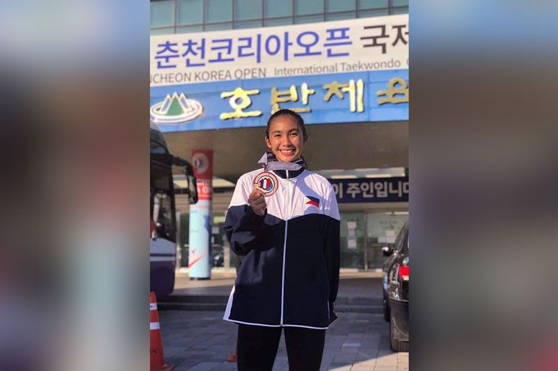 FIRST OF MANY. Philippine Taekwondo Association regional chairman Tony del Prado believes Nica Garces (left) will be winning more medals in international competitions. (Contributed Photo)