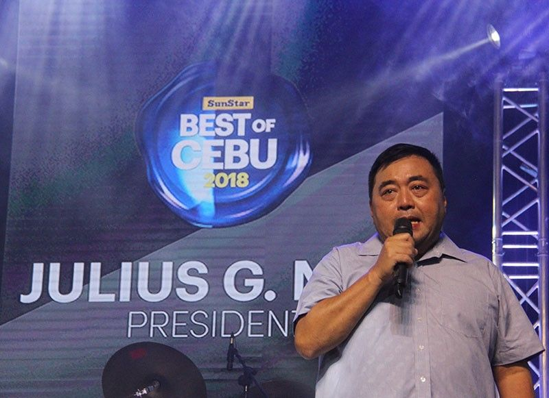 SPEAKING OF THE BEST. SunStar president Julius G. Neri Jr. speaks to guests of the Best of Cebu party. He said it started as an idea, aiming to encourage Cebuanos and promote Cebu's homegrown products. Now on its sixth year, the Best of Cebu now serves as the ultimate guide for people seeking to experience Cebu's best products and services. (SunStar Photo/Amper Campaña)