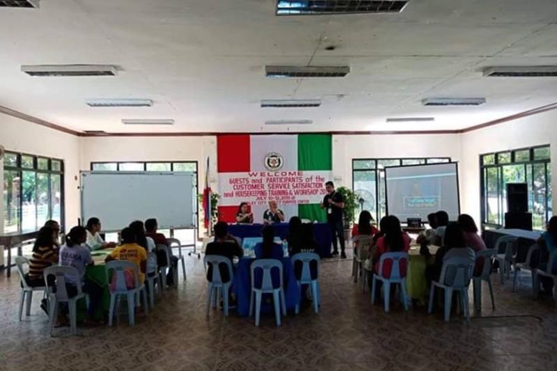 BACOLOD. The three-day costumer service satisfaction and housekeeping training and workshop for local tourism frontliners at the Sipalay City Tourism Multipurpose Center runs until today, July 12, 2019.