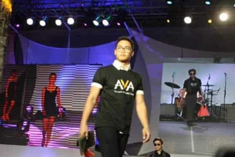 "Keith as model #1153 at the Guinness World Record for ""Most Number of People on the Catwalk"". Philippines won over Thailand for this title. (Contributed photo)"