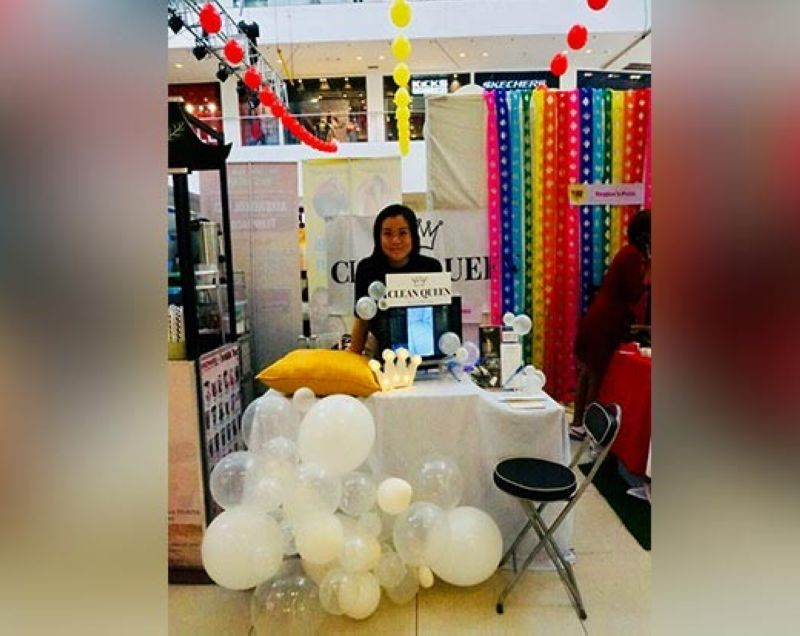 CAGAYAN DE ORO. The Clean Queen booth at Centrio. (Photo by Hannah Wabe)