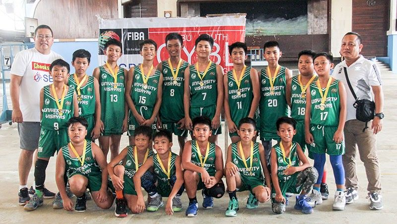 CHAMPION.  The University of the Visayas 12-Under team had the CYBL title as early as the first quarter when it took a 26-3 lead against Sacred Heart School-Ateneo de Cebu. (SunStar File Photo / Amper Campaña)