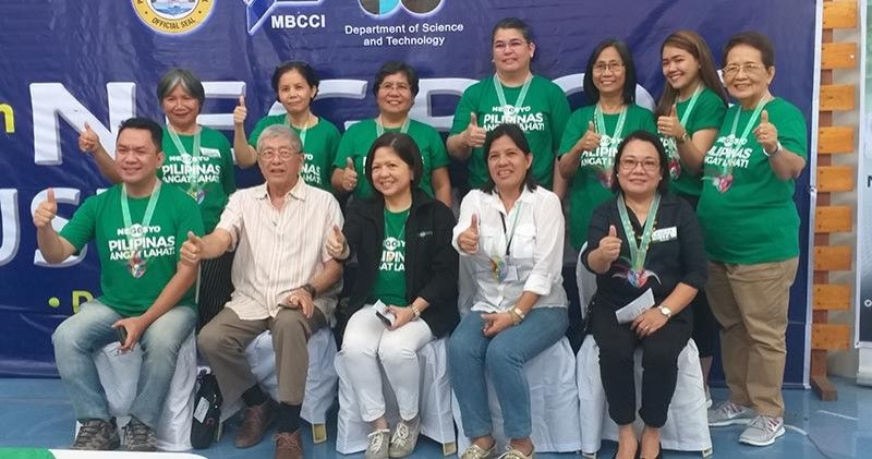 NEGROS. DTI-Negros Occidental Provincial Director Lea Gonzales (seated right) with Provincial Administrator Lucille Gelvolea (seated, second from right), Metro Bacolod Chamber of Commerce and Industry president Roberto Montelibano (seated, second from left) and some of the accredited national mentors from Negros Occidental during the