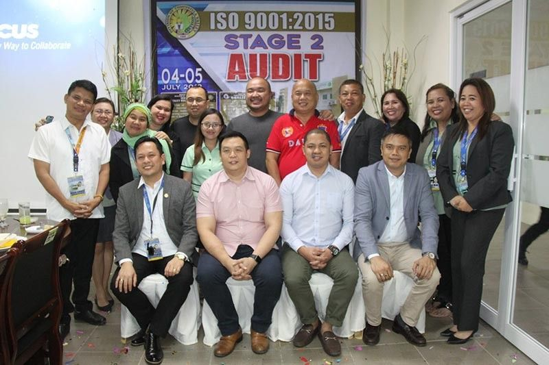 The TUV SUD auditors, DepEd-Comval division officials and staff, and Comval Gov. Jayvee Tyron Uy (Photos from Cristina E. Alivio and Deped Comval Facebook)