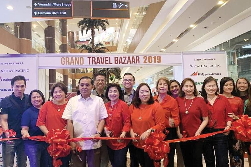 EVENT. The Grand Travel Bazaar 2019 at Robinsons Galleria Cebu. Present at opening day were Philippine Airlines' big boss in the region and dear friend, Harry Inoferio and Cebu Tours and Travel Association officers and members led by Aida Uy, Baby Dy and Marget Villarica.