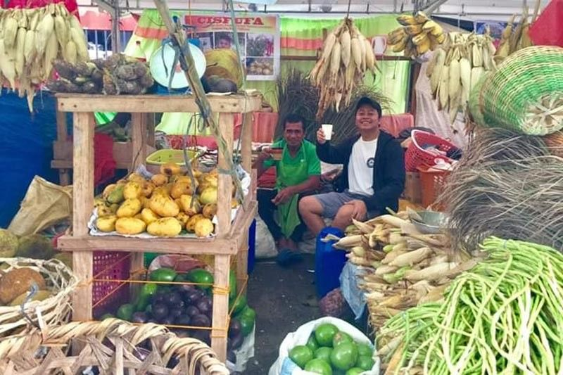 BACOLOD. One of the booths showcasing Negrense products, mostly organic and naturally-grown, at the just-concluded People's Organization Product Selling at the Capitol Grounds in Bacolod City. (Contributed photo)