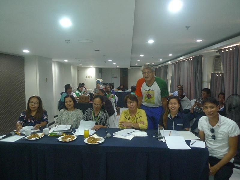 BACOLOD. 2019 National Organic Agriculture Achievers' Awards finalist Outstanding Small Farmer (individual) category Jesus Antonio Orbida (standing) during the 2019 Regional Organic Agriculture Achievers' Awards evaluation at Harbor Town Hotel in Iloilo City earlier this year. (Contributed photo)