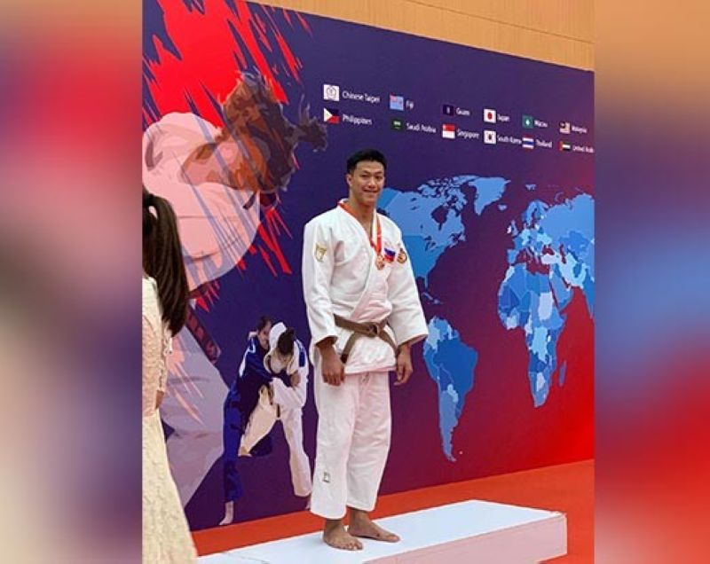 DAVAO. Beating two South Koreans in junior -81 kilograms event was no easy feat for Davao City's Chino Sy Tancontian who represented the Philippines along with his University of Santo Tomas varsity teammates in the IJF Asian Cup Cadets and Junior Championships 2019 at the Tin Shui Wai Sports Ground in Hong Kong last Sunday. (Lori Mendoza)