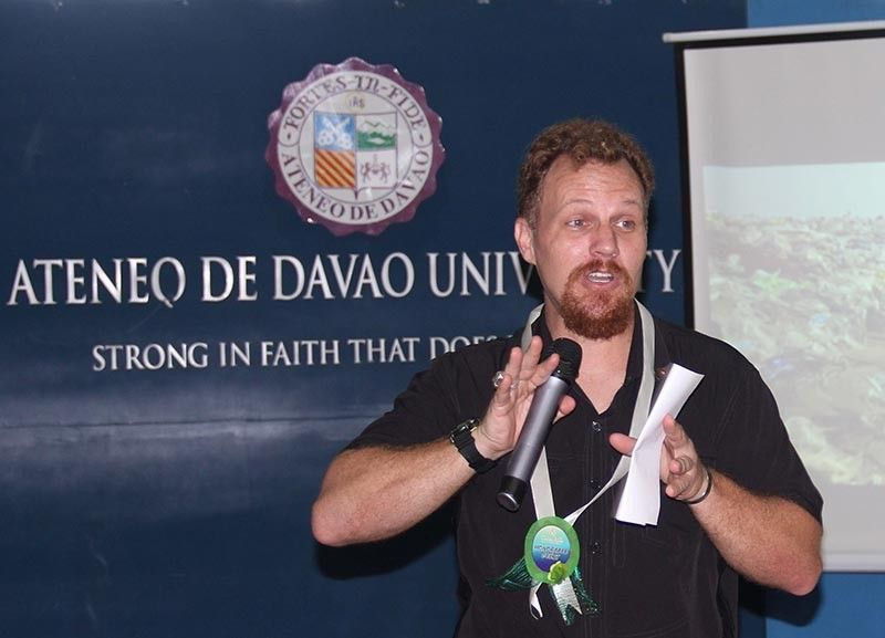 DAVAO. Darrell Blatchley owner of D' Bone Collector Museum talks about effects of single use plastic. (Jojie Alcantara)