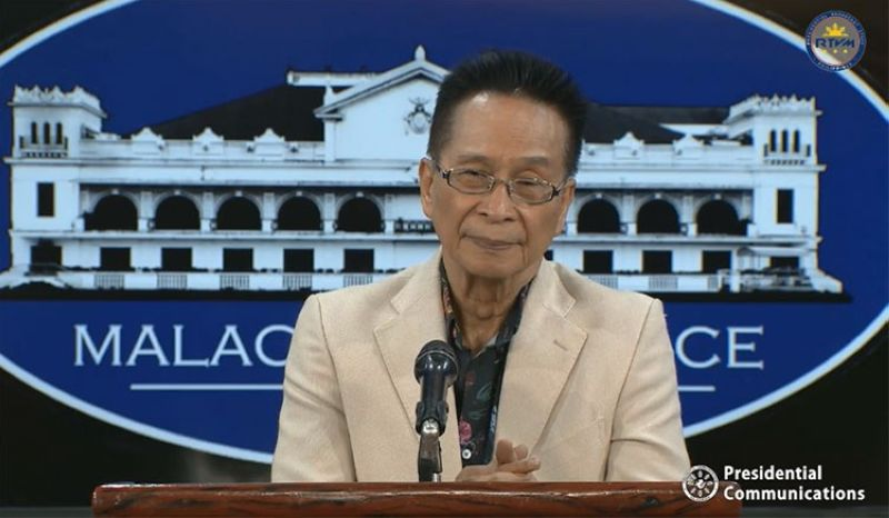 MANILA. Presidential Spokesperson Salvador Panelo. (Screenshot from RTVM video)