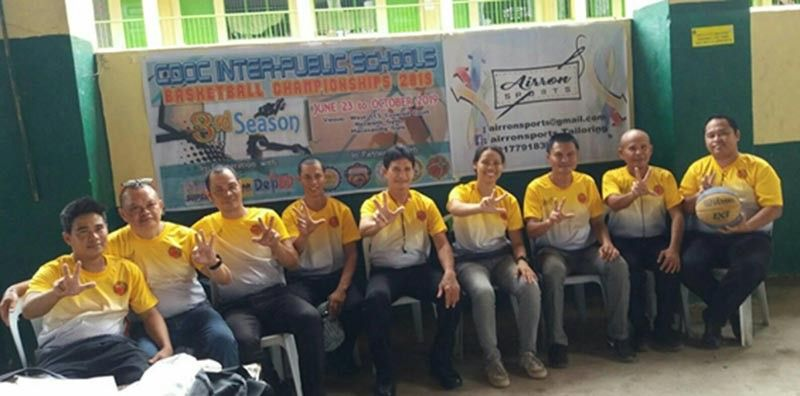 CAGAYAN DE ORO. The Airron sports-backed referees behind the fledgling Cagayan de Oro Inter Public School basketball tournament every weekend at the Nazareth gym. (Supplied Photo)