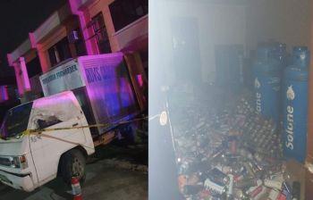 CEBU. Tulo ang naangol tungod sa butane explosion nga nahitabo sa Barangay Dumlog, Dakbayan sa Talisay. (Hulagway iya sa Talisay City Fire Station)