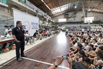 CAGAYAN DE ORO. The MYBL opening last July 13 at the Corpus Christi gym in Barangay Macasandig, Cagayan de Oro. (Photo by CIO)