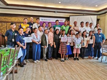 NEGROS. Representatives of the city government of San Carlos, the Department of Education, local schools, and the Aboitiz Group pose for a celebratory photo after the launch of the 3PLUS on June 25, 2019.