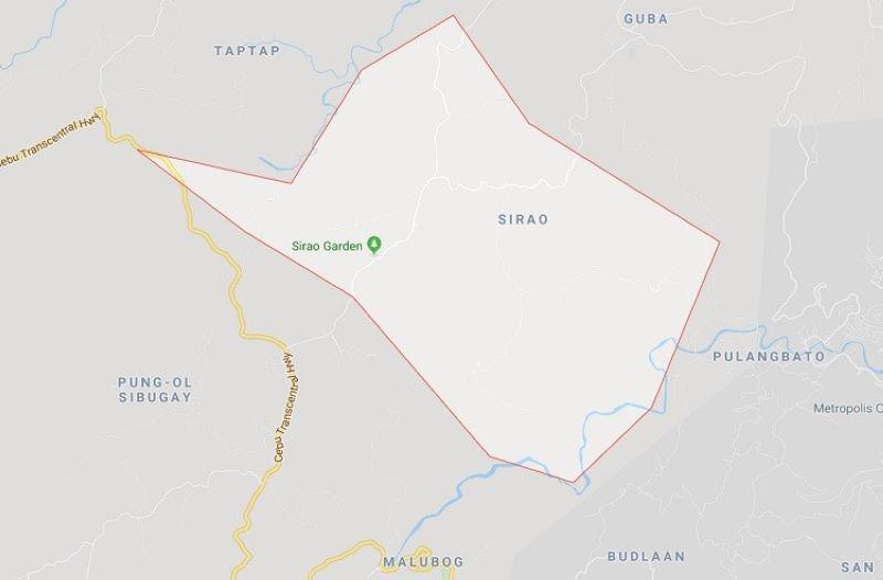 Mapa sa Barangay Sirao, Dakbayan sa Sugbo. (Google Maps)