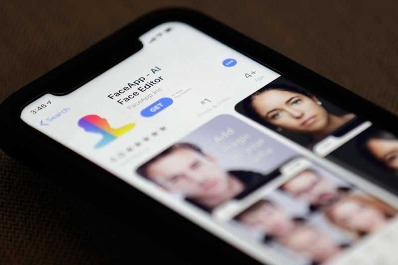 NEW YORK. FaceApp is displayed on an iPhone Wednesday, July 17, 2019, in New York. The popular app is under fire for privacy concerns. (AP)