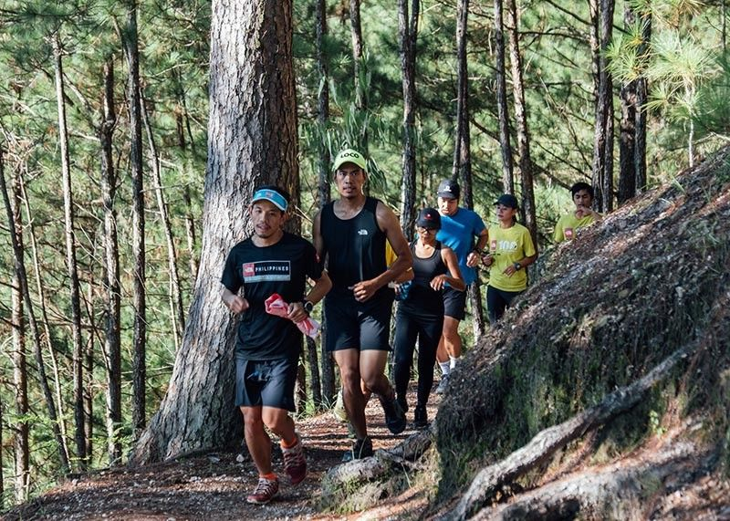 BAGUIO. Runners in Baguio City and Benguet enjoy the trails of Camp John Hay during a 5 Kilometer run organized by North Face. (Contributed photo)