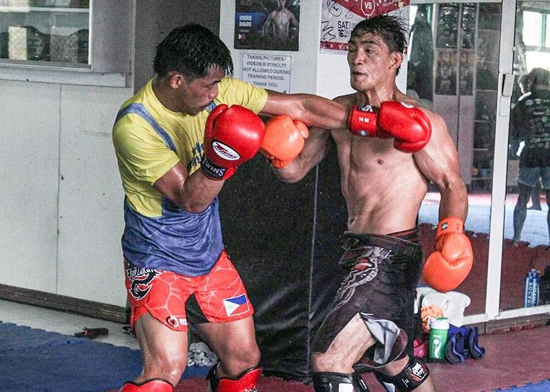BAGUIO. Eduard Folayang's training goes into high gear as ONE Championship announce his bout against Eddie Alvarez will be ONE Lightweight World Grand Prix Semi-finals. (Photo by Jean Nicole Cortes)