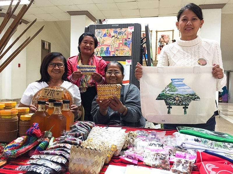 BAGUIO. Members of the Silent Movers Livelihood Association sell handmade products at the Baguio City Hall as the city marks the 41st National Disability Prevention and Rehabilitation celebration. (Jean Nicole Cortes)