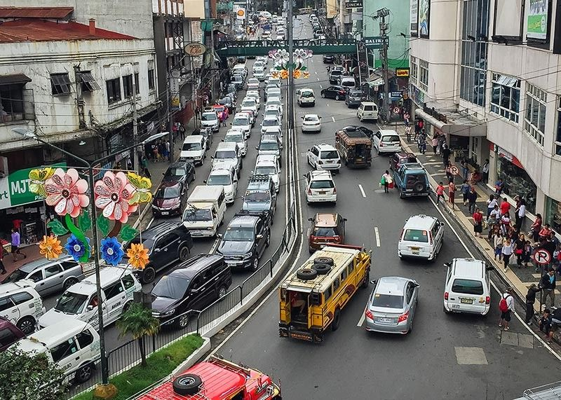 BAGUIO. Abanao Street was identified as one of traffic hotspots in Baguio City by the Baguio City Police Office Traffic Management Bureau during a visit by a team from the Metro Manila Development Authority. (Jean Nicole Cortes)