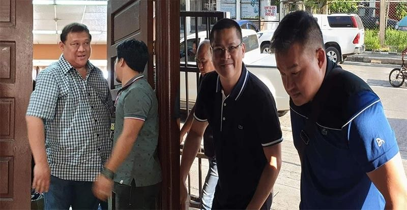 BACOLOD. Squabbling Yanson brothers Roy (left photo) and Leo Rey (right) on the sidelines of the second hearing at the RTC Branch 53 in Bacolod City Friday, July 19, 2019. (Carla Cañet Photos)
