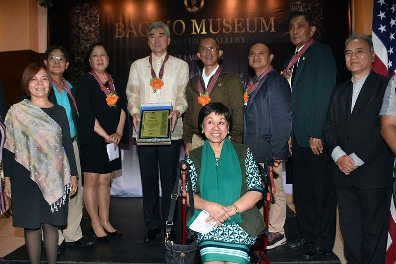 BAGUIO. United States (US) Ambassador Sung Kim receives a token of appreciation from Baguio City and Benguet officials led by Mayor Benjamin Magalong and Governor Melchor Diclas and officers of the Baguio Museum for generously donating from the 2017 Ambassadors Fund for the Cultural preservation and conservation of the Baguio Museum during the soft launching of the Cordillera Gallery of the museum on Friday, July 19, 2019. (Photo by Redjie Melvic Cawis)