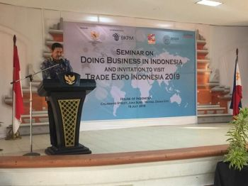 Indonesian Consul General Dicky Fabrian assured that foreign businesses in Indonesia have more potential to grow as their government prioritizes inbound investments and trade opportunities. (Photo by Cristita Canoy, MSU-Marawi intern)