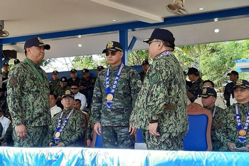 CAGAYAN DE ORO. Gimando ni Police Regional Office-Northern Mindanao director Police Brigadier General Rafael Santiago Jr., nga mag-alerto batok sa mga lihok sa terorista ug mga kriminalidad sa gitakdang ika-upat nga State of The Nation Address (Sona) ni Presidente Rodrigo Duterte Lunes, Hulyo 22, 2019. (Hulagway kuha ni Stephanie V. Berganio)