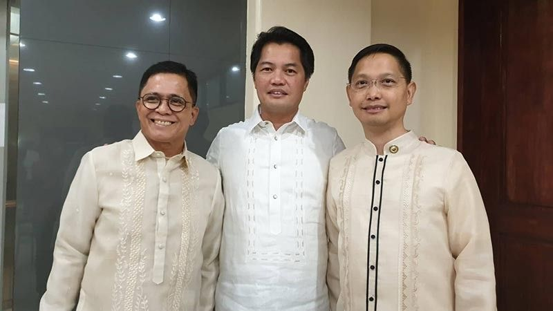 BACOLOD. Abang Lingkod Rep. Stephen Paduano, former 3rd District Rep. Albee Benitez and 3rd District Rep. Jose Francisco Benitez. (Contributed Photo)