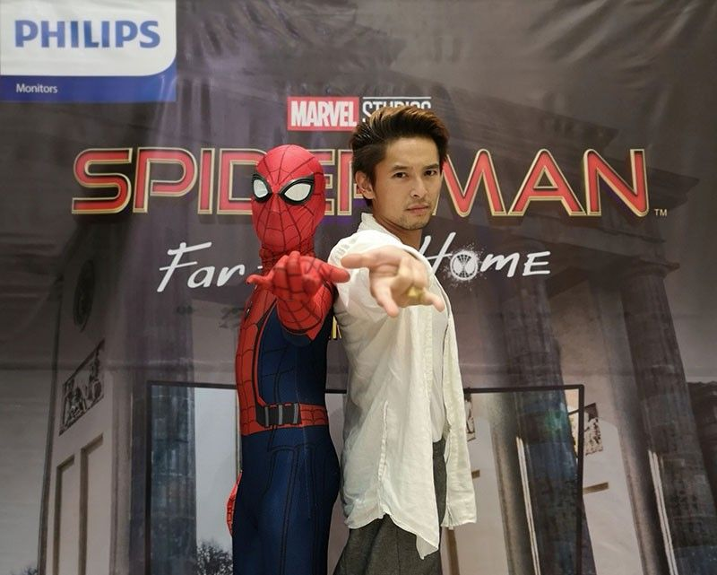 "Writer Michael Karlo Lim at the exclusive media screening for ""Spider-Man: Far From Home"" at SM Seaside City Cebu's Director's Club Cinema, hosted by Philips Monitors."