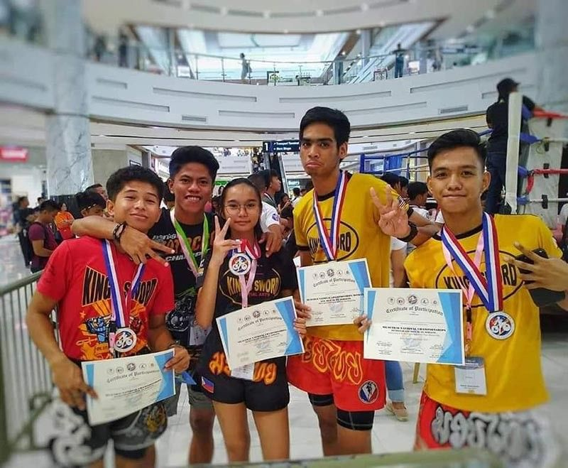BUTUAN CITY. Some members of the overall champion Davao City team pose after the awarding rites of the 2019 National Muay Thai Mindanao Leg held at Robinson's Place in Butuan City recently. (Contributed photo)
