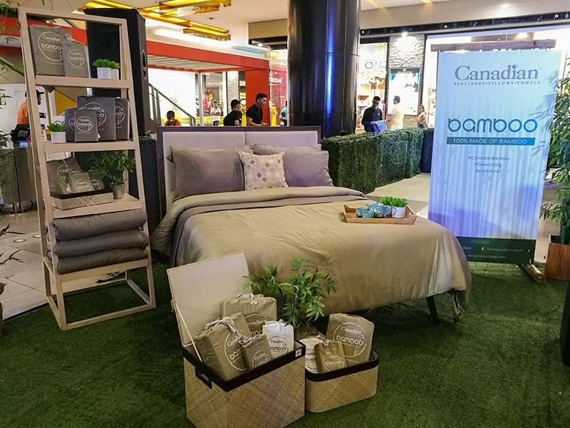 ONE WITH THE ENVIRONMENT. Canadian Manufacturing Corp. celebrates its 60th year in the business by introducing Canadian Linen's The Bamboo, its eco-friendly collection that is made of 100 percent bamboo and uses self-fabric packaging for sustainability. (SunStar Photo/Arni Aclao)