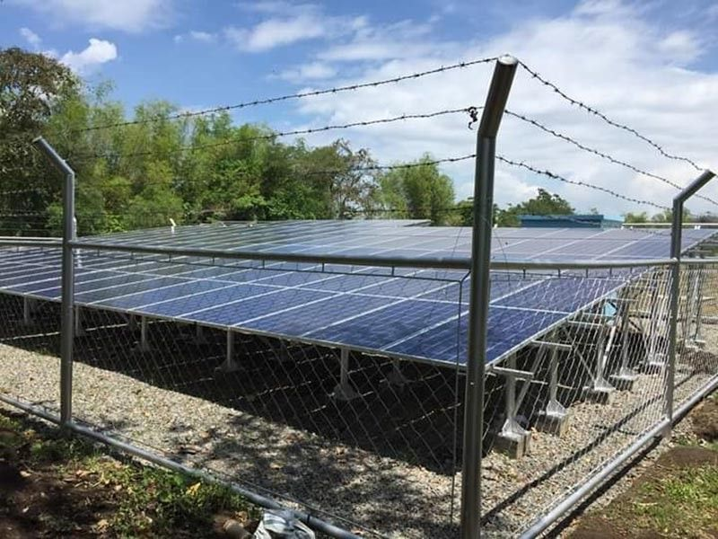 NEGROS. The solar-powered irrigation system at Barangay Bato in Hinigaran town benefiting 60 sugarcane and rice farming families in the area. (Contributed photo)