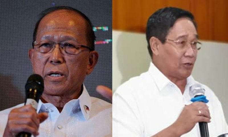 Defense Secretary Delfin Lorenzana (left) and National Security Adviser Hermogenes Esperon. (SunStar File/Photo from Neda-CAR)