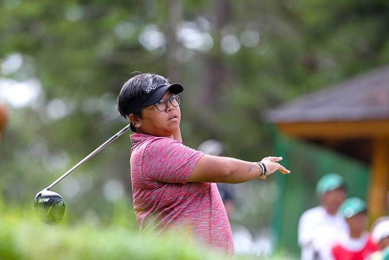 BAGUIO. Chihiro Ikeda rebounds in time after nearly losing grip of the lead after two rounds of the ICTSI Camp John Hay Ladies Championship in Baguio Thursday, July 25, 2019. (Contributed photo)