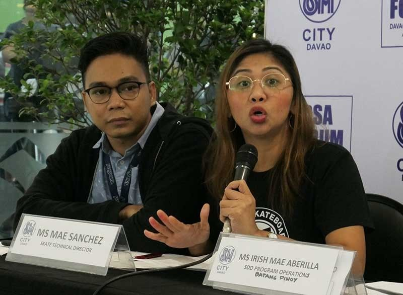 DAVAO. Davao City will host the DC x Grind 1st Kadayawan Skate Competition, according to skate technical director Mae Sanchez, right, who guested with Roland Jae Patalita in the Davao Sportswriters Association (DSA) Forum at The Annex of SM City Davao Thursday, July 25, 2019. (Seth Delos Reyes/SDD-CMO)