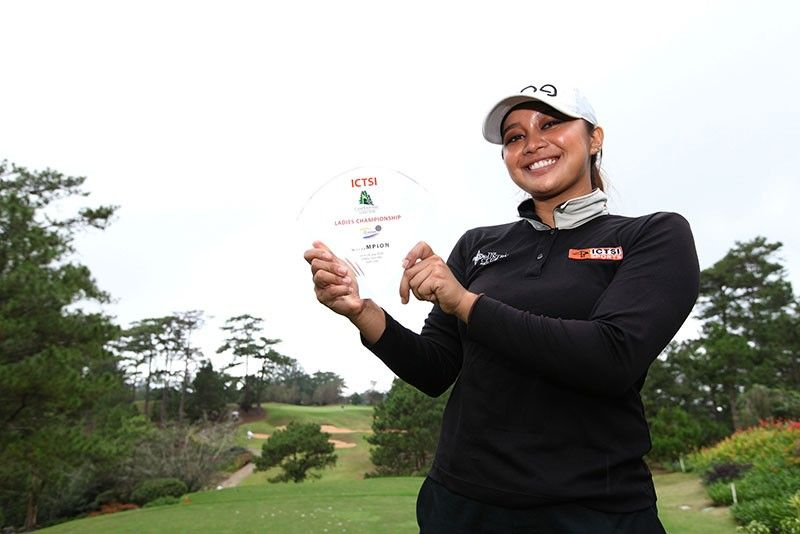 DOWN FOUR, WIN BY FOUR. Princess Superal started the final round four strokes down but hit a 61 to win the ICTSI Camp John Hay Championships by four strokes. (Contribued Photo)