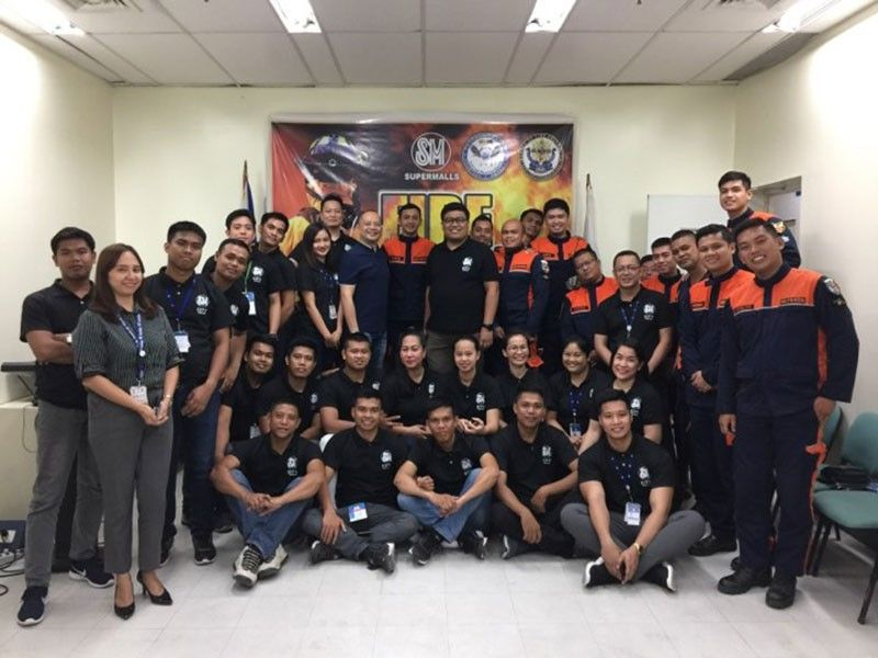 TARLAC. Members of SM City Tarlac Fire Brigade underwent a five-day Brigade Training under the Bureau of Fire Protection. (Contributed photo)