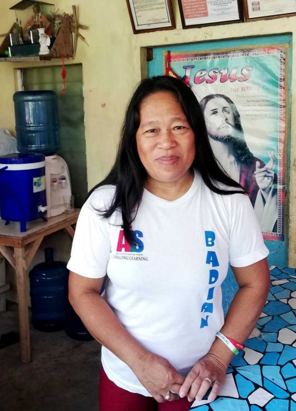 ORGANIZER. Flordeliza Ferolino heads the Dongguan Fisherfolk Association in Badian, Cebu. (CONTRIBUTED FOTO)