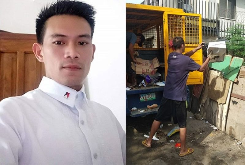 CEBU. Lawyer-broadcaster Juril Patiño (left) and photo of men caught throwing garbage into a vacant lot on Gen. Echavez St. in Cebu City. (SunStar File/Zushikikato Rinkazukajika's Facebook post)