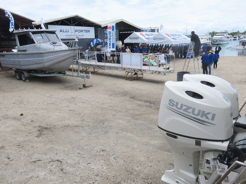 RISING DEMAND. Aluporter Group builds durable aluminum boats. Since its tie-up with Suzuki Marine Philippines, the propulsion system of its boats are mostly Suzuki outboard engines. (Sunstar Photo / Allan Cuizon)