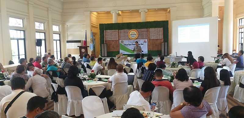 At least 100 organic farming practitioners in Negros Occidental attend the symposium on organic agriculture at the Provincial Capitol's Social Hall in Bacolod City on Friday.
