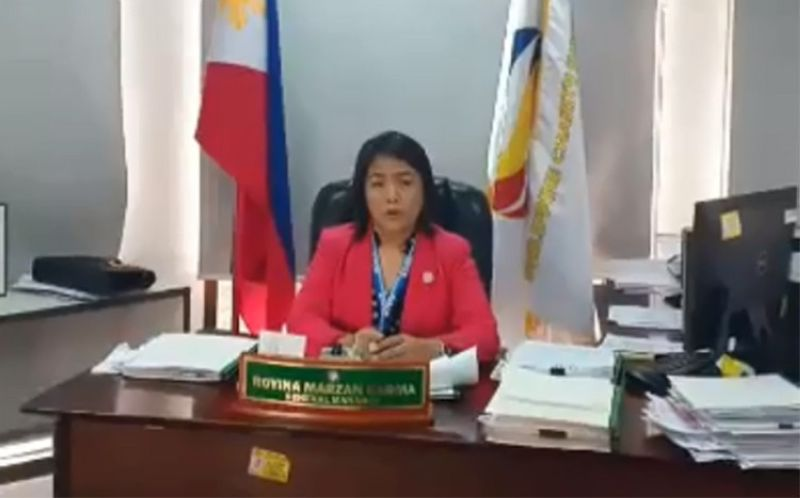 MANILA. Philippine Charity Sweepstakes Office General Manager Royina Garma. (Screenshot from PCSO video)