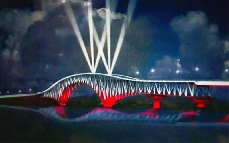 SAMAR. Artist rendition of the San Juanico Bridge lighting system project courtesy of Samar Provincial Government. (PNA)