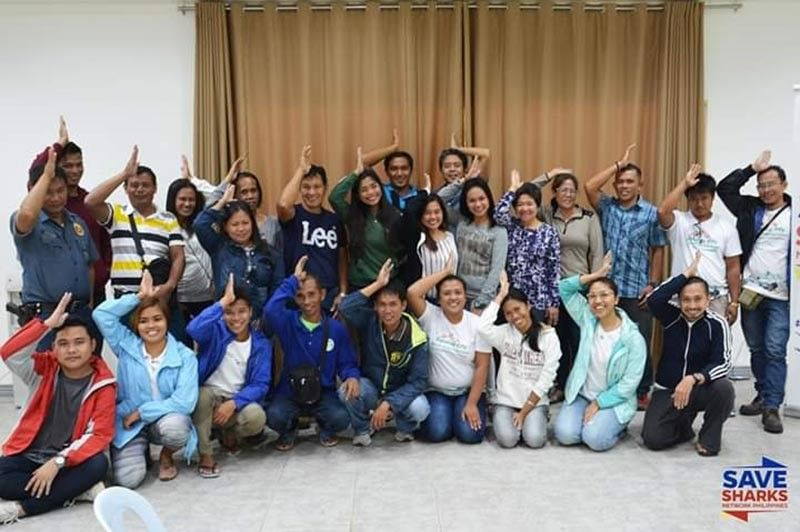 NEGROS OCCIDENTAL. Participants of the shark conservation workshop initiated by the City Environment and Natural Resources Office of Sipalay City and Save Sharks Network Philippines in the southern Negros Occidental locality recently. (Contributed Photo)