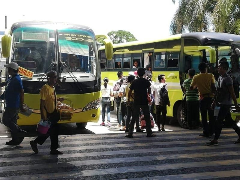 BACOLOD. Some of the bus units at the Ceres North Terminal in Barangay Bata, Bacolod City catering to passengers in the northern part of Negros Occidental. (Photo by Nanette Guadalquiver)