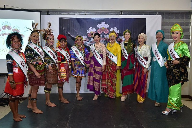 DAVAO. Candidates of Davao's 11 tribes banner their respective advocacies ranging from culture preservation, education, women empowerment to equality Wednesday, July 31, 2019 during the media presentation at Panorama Summit Hotel in Davao City. (Macky Lim)