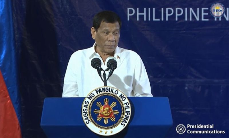 MANILA. President Rodrigo Duterte graces the 28th Founding Anniversary of the Bureau of Fire Protection and 118th Year of Fire Service in a ceremony at the Philippine International Convention Center in Pasay City Thursday, August 1, 2019. (Screenshot from RTVM video)
